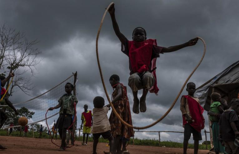 Internally displaced children at a UNICEF child friendly space in Central African Republic