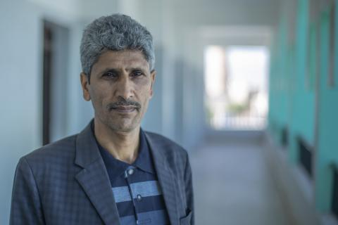 Hamoud is a chemistry teacher in Sana'a.