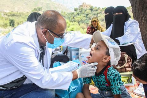 People from Taiz governorate who received medical services, Taiz, Yemen