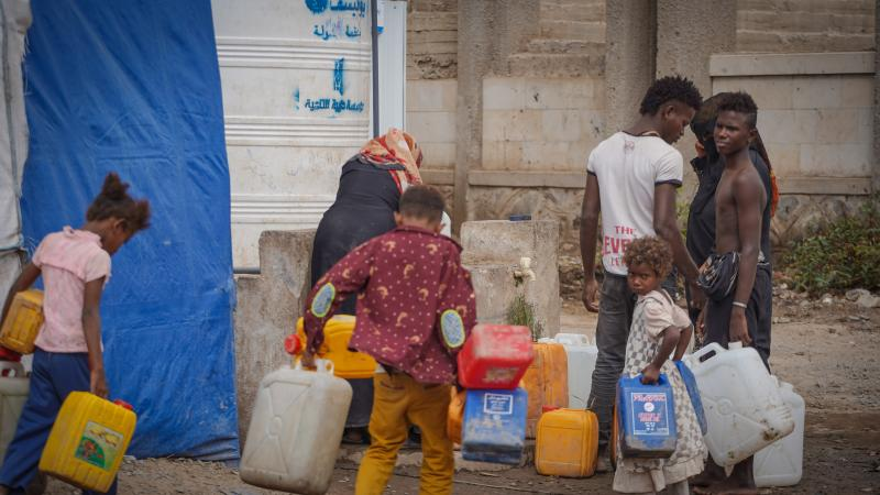 Safe water supplies for families displaced in Aden