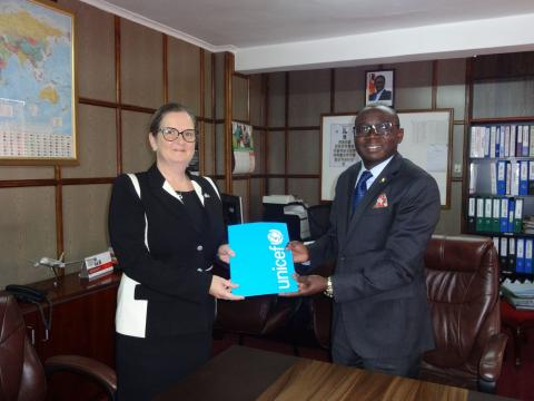 UNICEF Representative presents her credentials