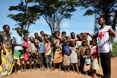 Congolese refugees receive information on good hygiene