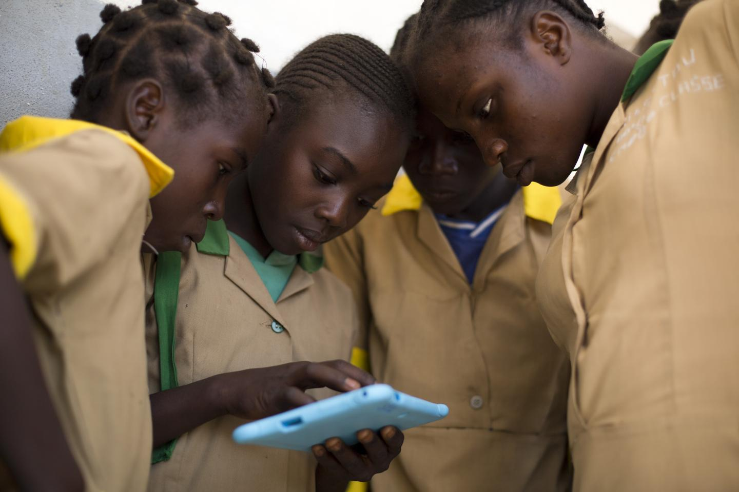 Children using Tablet