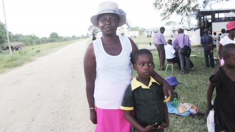 Creddy Zikha, grandmother to Sikhulile has seen a marked improvement in her school work and she is happy with the attention the teachers are giving to her grandchild.