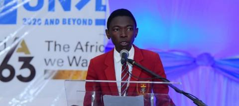 Nkosi gives speech on climate change