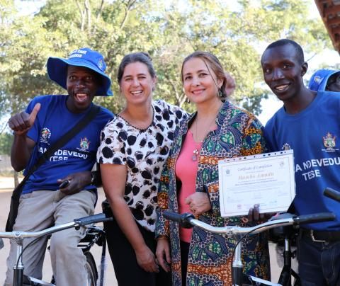 UNICEF contributes bicycles to support the child protection work of Community Childcare Workers