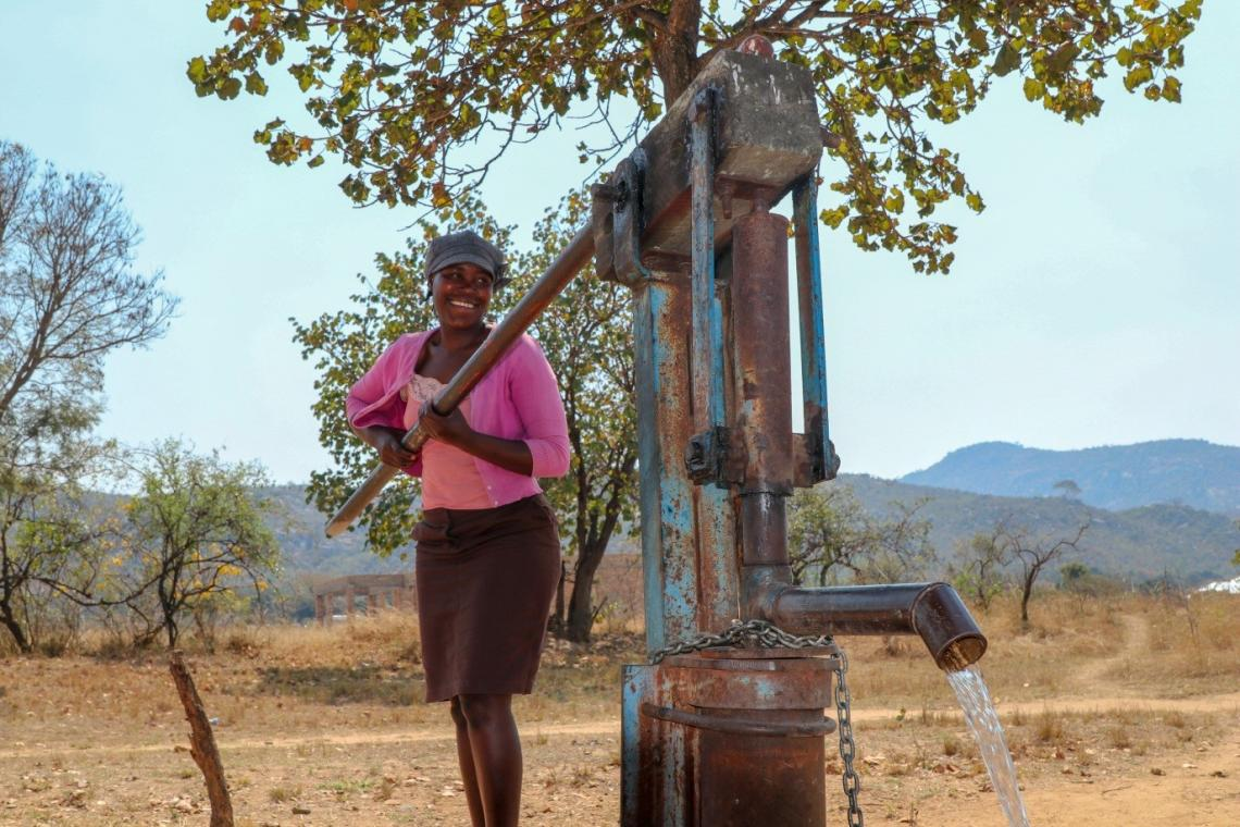 Martha Nyagura, a Village Pump Mechanic is proud of the maintenance work she has done to rehabilitate malfunctioning boreholes in Gombakomba village in Mutare.