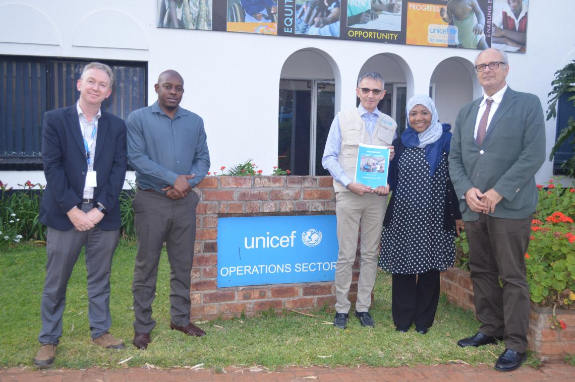 The Italian Ambassador to Zimbabwe with Deputy Representative - UNICEF  Zimbabwe.